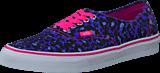 Vans - U Authentic (Leopard/Skull) Blue/TrueWhite