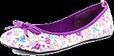 Donna Girl - Canvas Ballerina Blommor Lilac