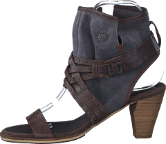 Wrangler - Cher Strips Mid Dark Brown Leather