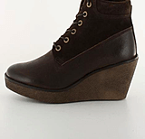 Marc O'Polo - Wedge Bootie Tumbled Buffalo