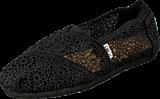 Toms - Seasonal Classic Black Crochet