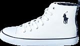 Ralph Lauren Junior - Harbour Hi White Canvas - Navy