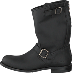 PrimeBoots - Engineer Mid-16 Old Crazy Black