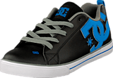 DC Shoes - Kids Court Graffik Vulc Shoe Black/Glacier Blue