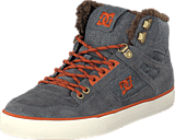 DC Shoes - Spartan High Wc Wnt Shoe Grey/Dark Red