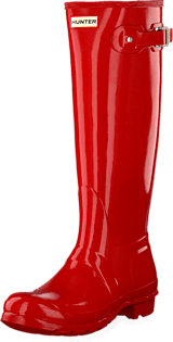 Hunter - Women's Original Tall Gloss Pillar Box Red