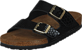 Birkenstock - Arizona Regular Birkoflor Shiny Snake Black