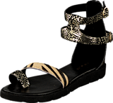 Amust - Kaya sandal Gold/black