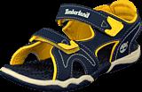 Timberland - Adventure 2-strap sandal Navy/Yellow