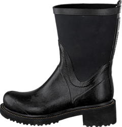 Ilse Jacobsen - Rubber Boot With Neoprene Shaft Black