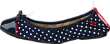 Butterfly Twists - Cara Navy / Wht Polka Dot