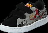 Puma - Suede Superman 2 V Kids Black-Limestone Gray