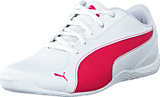 Puma - Drift Cat 5 L NU Jr White-Rose Red