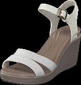 Crocs - Leigh II Ankle Strap Wedge W Oatmeal/Khaki