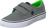 DC Shoes - Dc Kids Trase V Shoe Grey/Black/Green