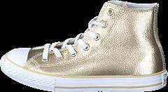 Converse - All Star Metallic-Hi Light Gold/White/White