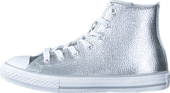 Converse - All Star Metallic-Hi Pure Silver/White/White