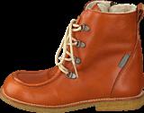 Angulus - TEX-boot w. zipper and laces Cognac/Cognac