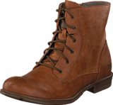 Mustang - 1157534 Women's Lace-Up Bootie Cognac