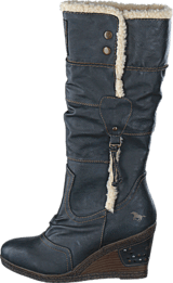 Mustang - 1083601 W Wedge High Boot Graphite