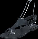 Bianco - Triangle Strap Sandal JFM17 10 Black
