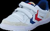 Hummel - Stadil Jr Leather Low White/Blue/Red/Gum
