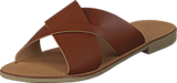 Pieces - Pslucca Leather Sandal Cognac