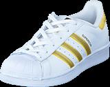 adidas Originals - Superstar J Ftwr White/Gold Met./Gold Met.