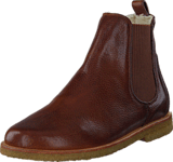 Angulus - Chelsea boot with wool lining 2509 Medium Brown