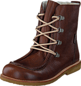 Angulus - TEX-boot w. zipper and laces J 2509/1589 Red-brown