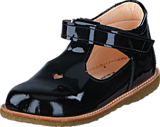 Angulus - Mary janes w. heart and velcro 2320 Black