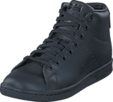 adidas Originals - Stan Smith Mid J Core Black/Core Black/Core Bla