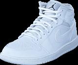 Nike - Air Jordan 1 Mid Shoe White Black White