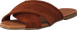 Pieces - Psmarnie Suede Sandal Cognac