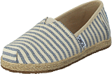 Toms - Alpargata Youth Sky Woven Stripe Rope Sole