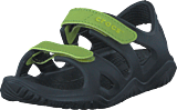 Crocs - Swiftwater River Sandal K Black/volt Green