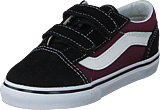 Vans - Td Old Skool V Pop Black/og Burgundy