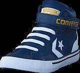 Converse - Pro Blaze Strap Stretch Navy/white/mineral Yellow